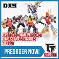 Transformers News: TFSource News - MP-47 Hound, War in Pocket Dino Giftset, XT Neptune, ThreeA Deluxe Prime & More!