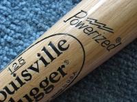 Louisville Slugger bat on carpet
