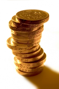 15 gold coins stacked