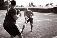 George Whitfield Pulls Quarterback's Foot