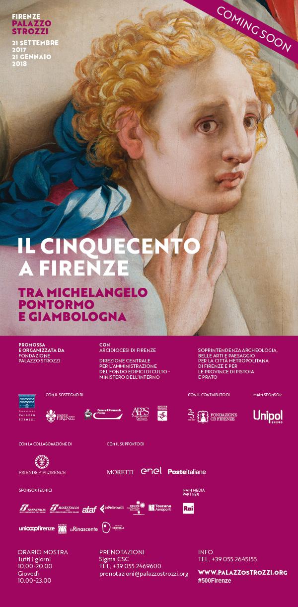 Coming soon IL CINQUECENTO A FIRENZE, Palazzo Strozzi, 21 settembre 2017-21 gennaio 2018