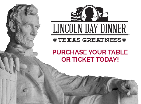 Purchase your Collin County Lincoln Day Dinner Tables or Tickets today!
