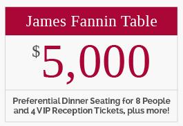 James Fannin Table