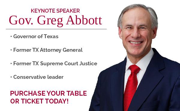 Come meet Keynote Speaker: Gov. Greg Abbott