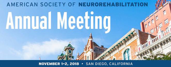 American Society of Neurorehabilitation Annual Meeting