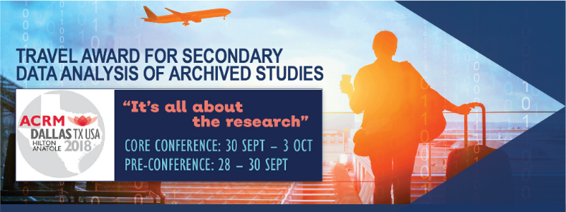 TRAVEL AWARD FOR SECONDARY DATA ANALYSIS OF ARCHIVED STUDIES