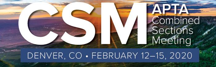 APTA CSM 2020 conference graphic