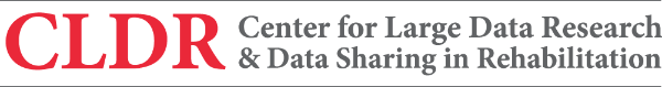 Center for Large Data Sharing in Rehabilitation (CLDR) logo