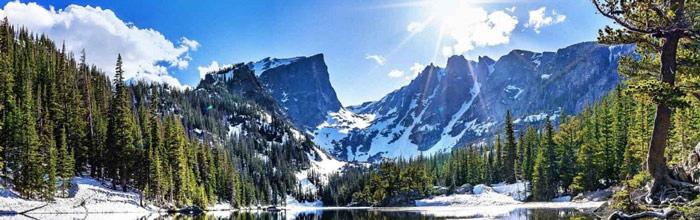 Photo of mountain lake in colorado