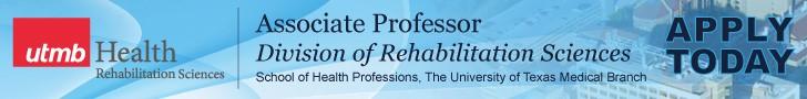 Associate Professor, Division of Rehabilitation Sciences