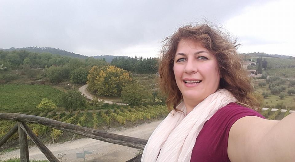 Tuscani'de koçluk eğitimim arasında şarap bağlarını gezerken. İşimi geliştirirken bir taraftan da bir hayalimi daha gerçekleştiriyordum...