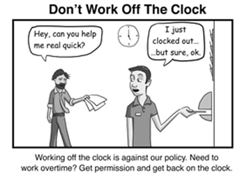 don't work off the clock
