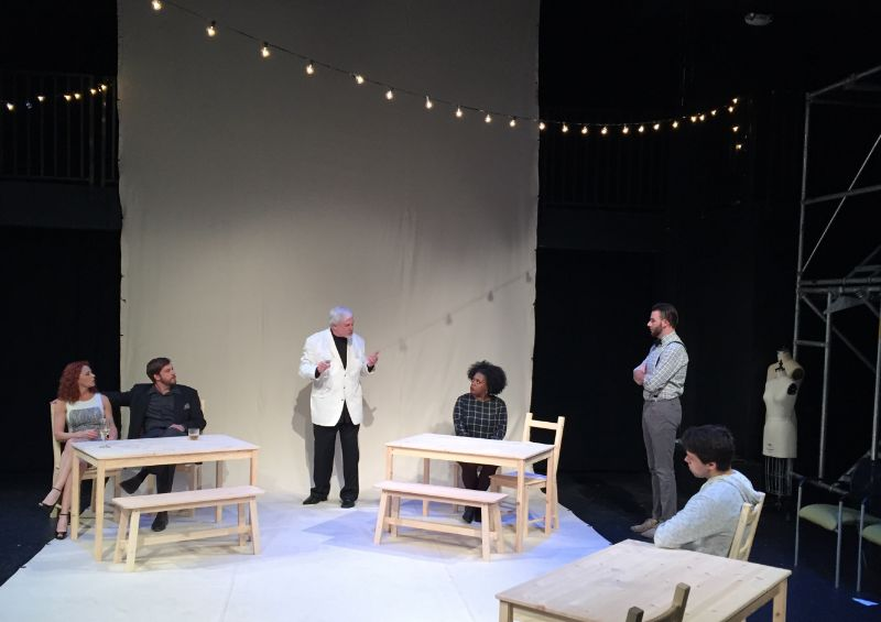 A scene from TampaRep's production of Stupid Fucking Bird.