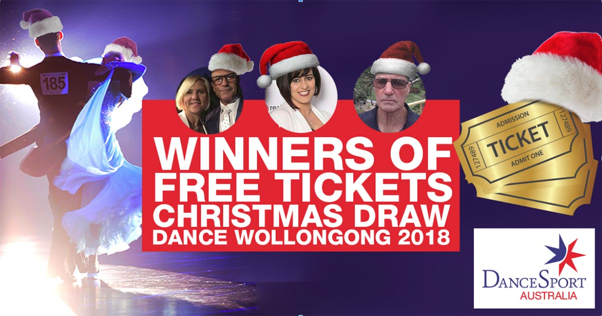 Winners of DANCE Wollongong 2018 Free Tickets Christmas Draw