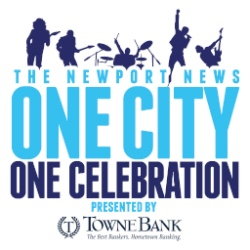 logo of The Newport News One City One Celebration presented by Towne Bank