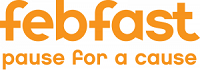 febfast logo with tagline pause for a cause