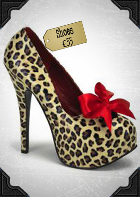 Bordello Leopard Teeze Shoes £55