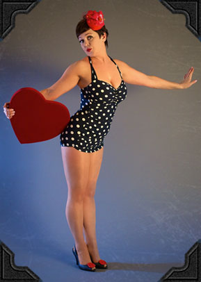Esther William polka dot classic swimsuit