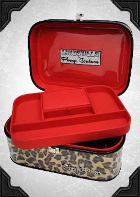 Train Cases in Leopard, Red, Pink or Black
