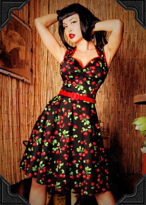 PinUp Couture Heidi dress in Cherries print