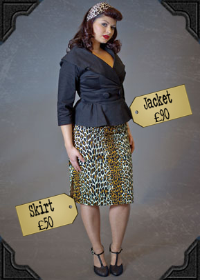 Black Courtney Jacket £90 and Leopard Pencil Skirt £50