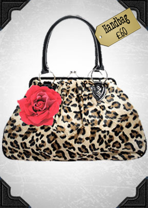 Lux De Ville Leopard Kisslock Bag £60