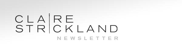 Claire Strickland Millinery Newsletter