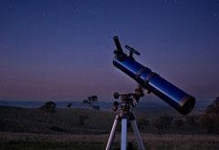 Telescope at night