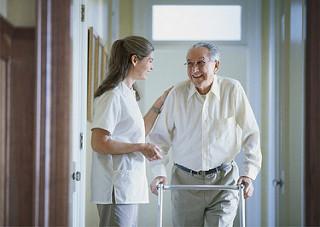 Mental health nurse working with elderly