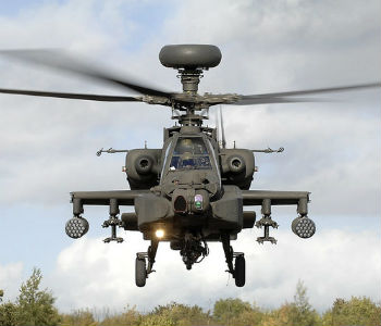 Apache helicopter British Army