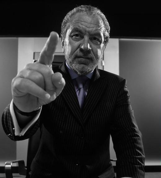 Alan Sugar pointing his finger
