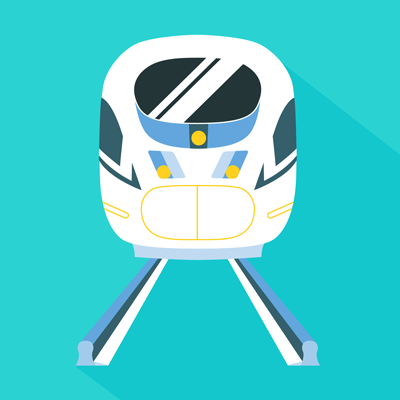 Graphic of a train