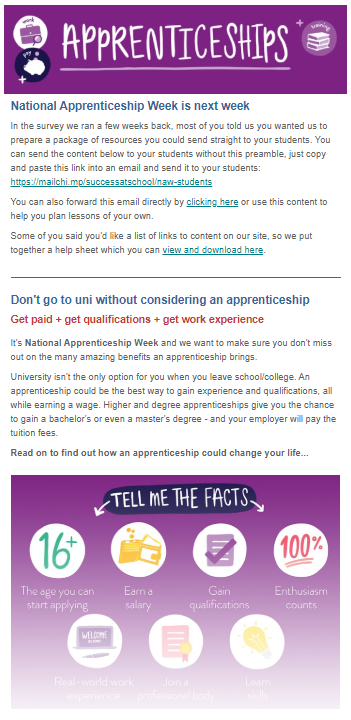 National Apprenticeship Week email