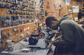 Apprentice in locksmiths