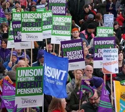 Trade union rally