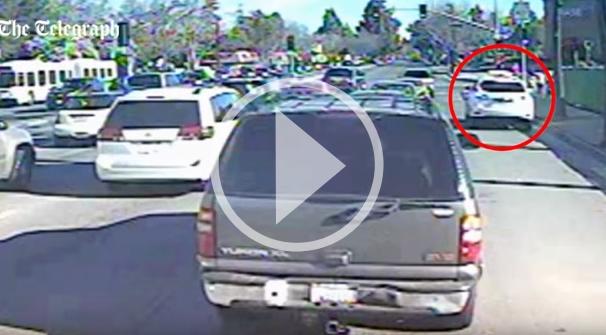 Crash mit Google Car - Youtube-Video