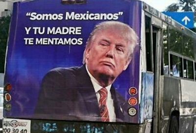 Transit ad that appeared in Acapulco this week