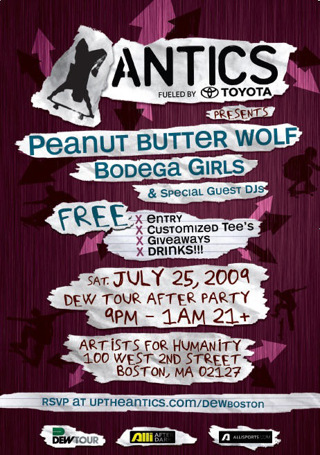 Peanut Butter Wolf free set w/ free dranks this saturday!