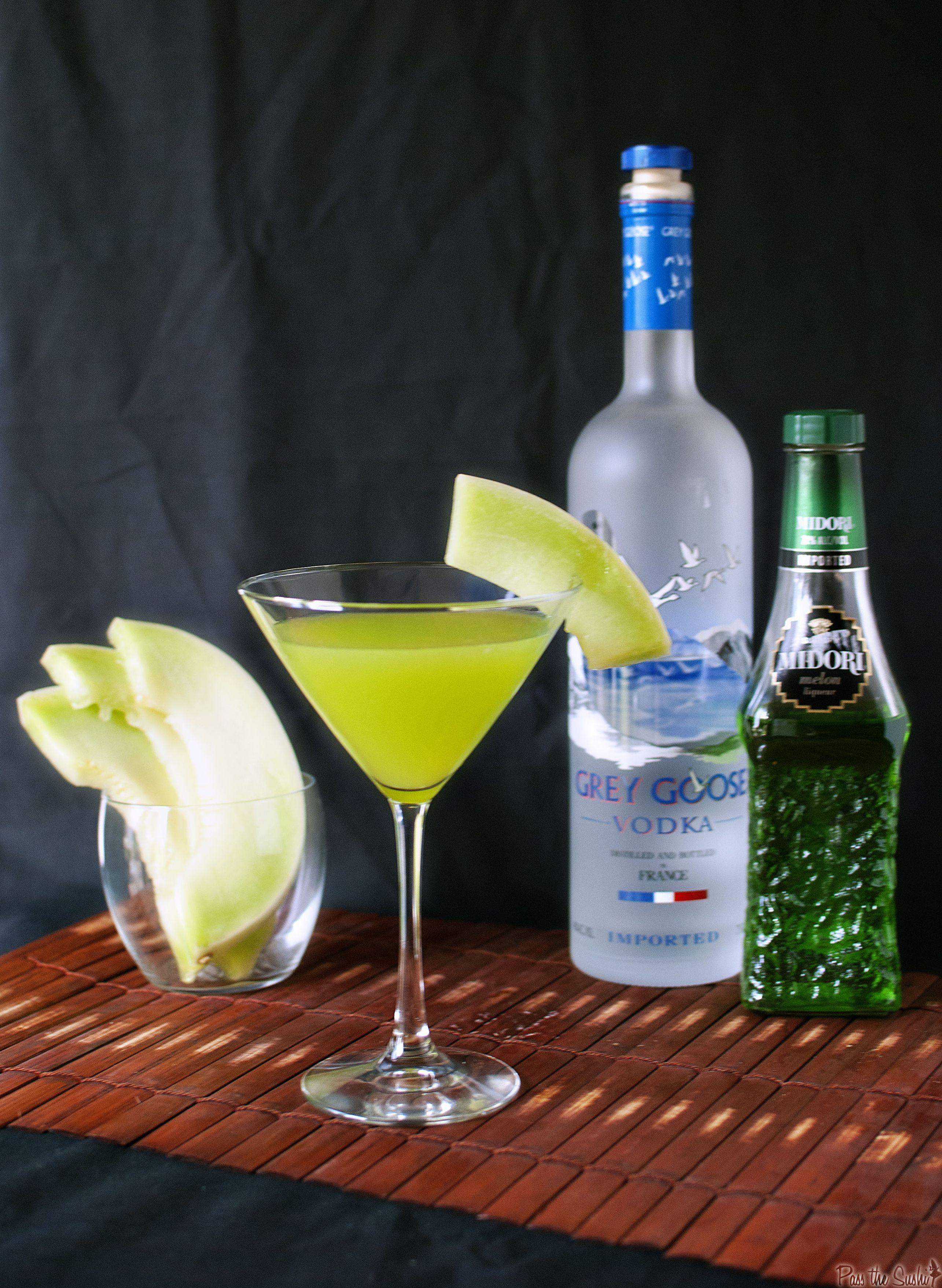 Honeydew Martinis - Get the recipe on passthesushi.com