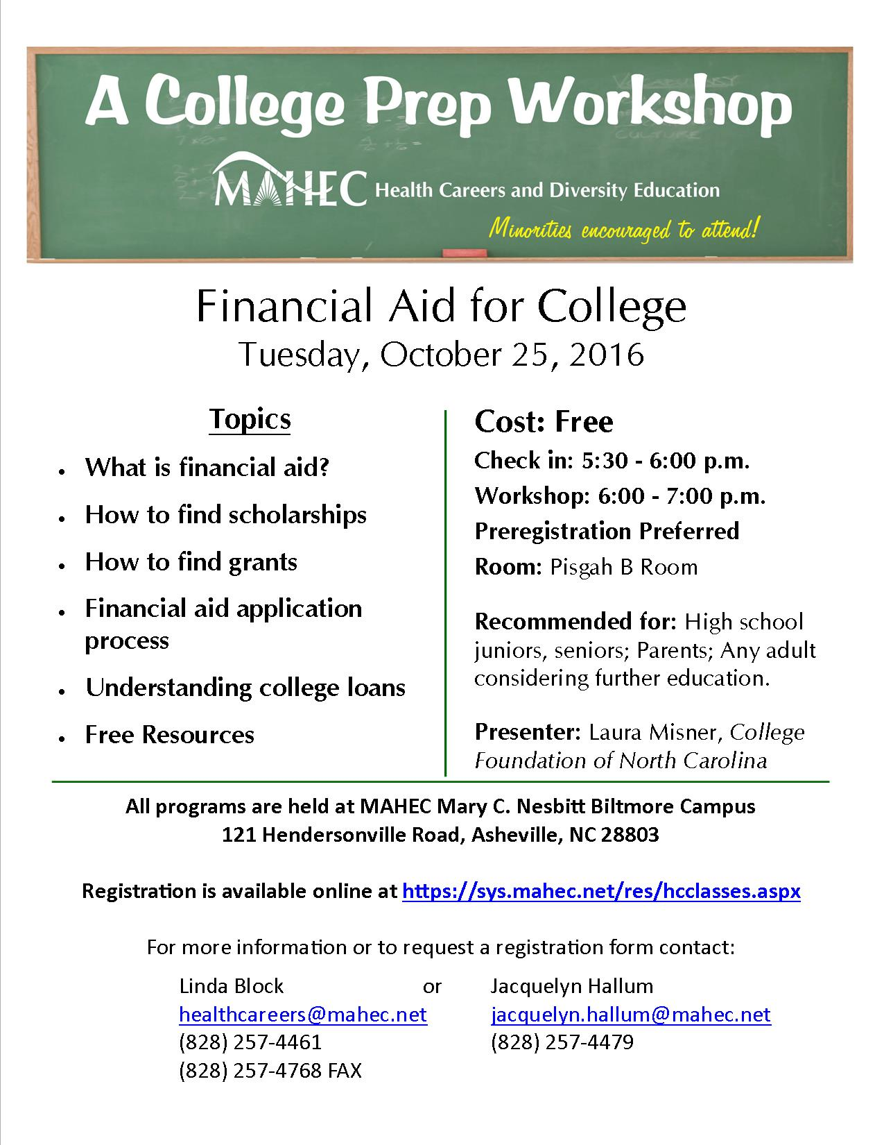 Free Financial Aid Class Offered