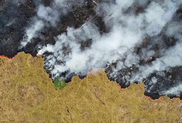 Drone image of Porto Velho, Rondonia State, Brazil.