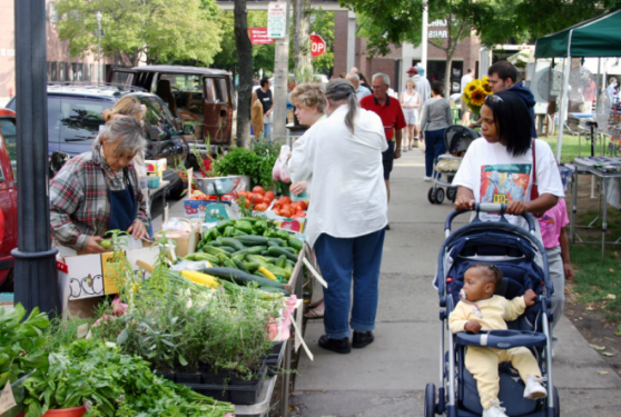 A farmers market in Milwaukee