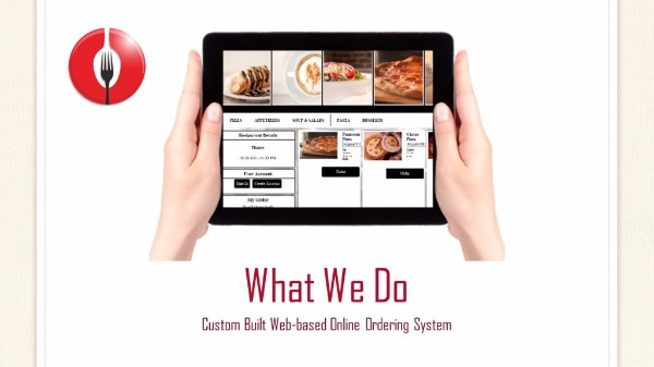 Mobile friendly online ordering system - Takeout Button