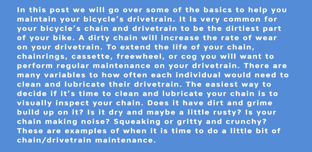 Maintenance Made Easy - Drivetrain Cleaning and Lubricating - 2