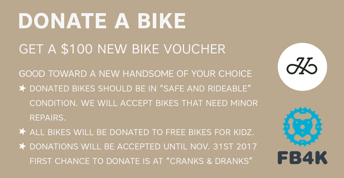 Donate your bike for $100