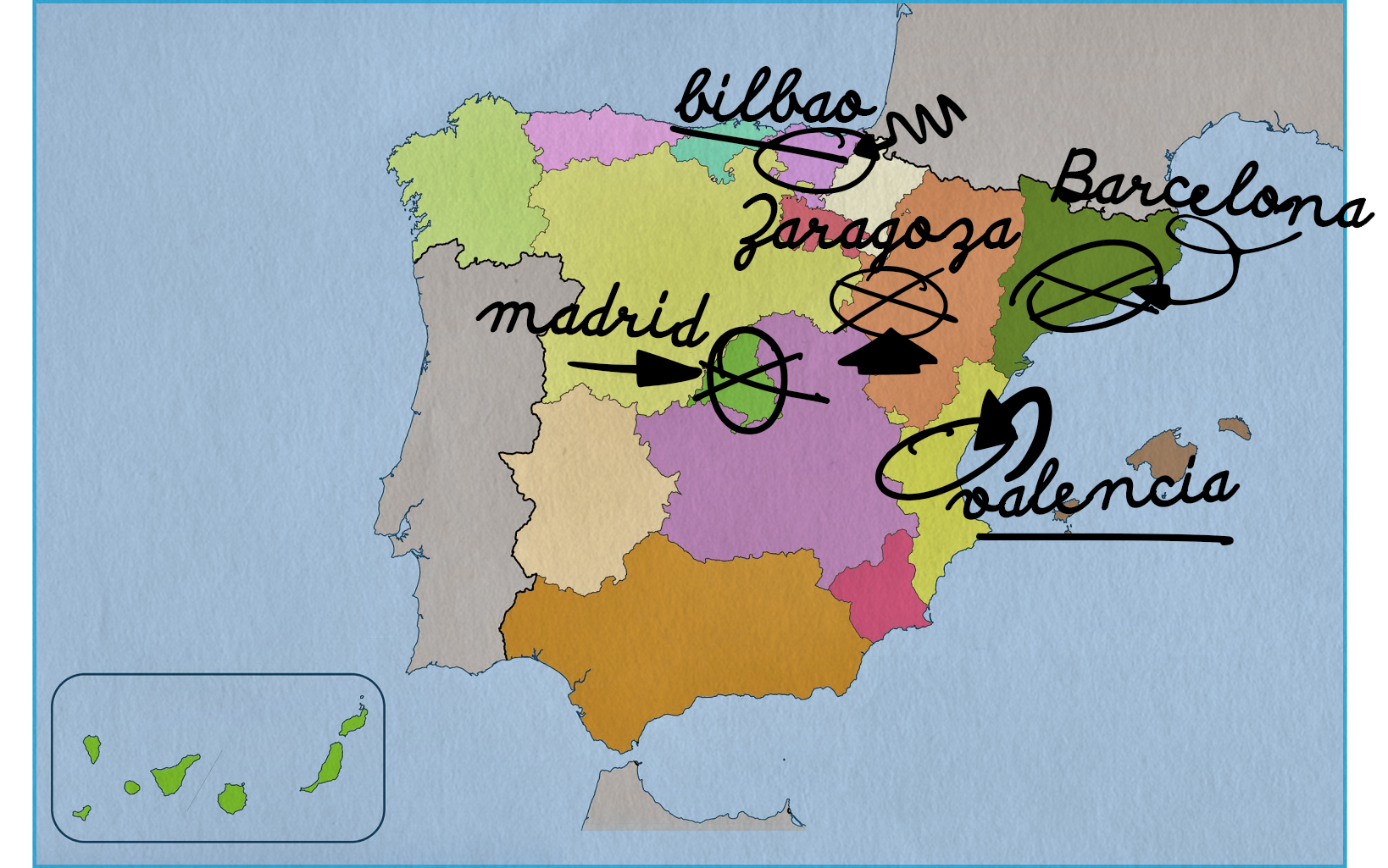 Próximas ciudades de la gira