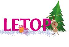 Logo Letop met kerstversiering