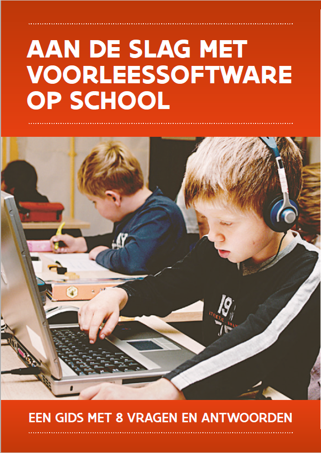 Cover brochure Aan de slag met voorleessoftware op school