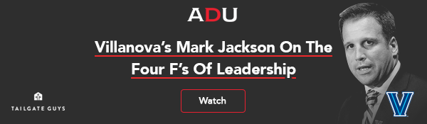 (Watch) Villanova's Mark Jackson On The Four F's Of Leadership