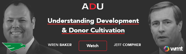 (Watch) Understanding Development & Donor Cultivation: ECU's Compher & UNT's Baker